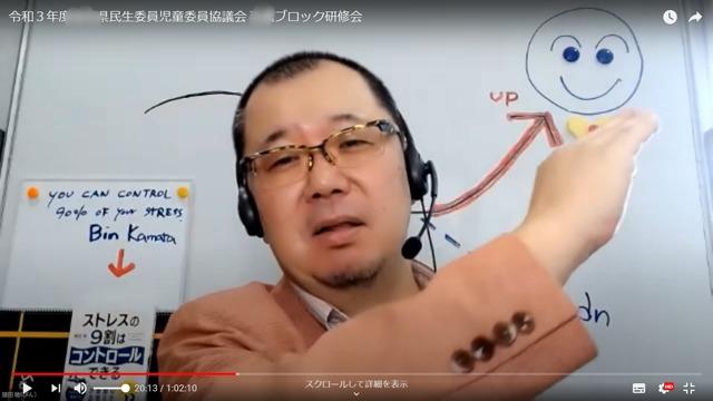福祉講演会の収録中の様子(講師はこころ元気研究所 鎌田敏)