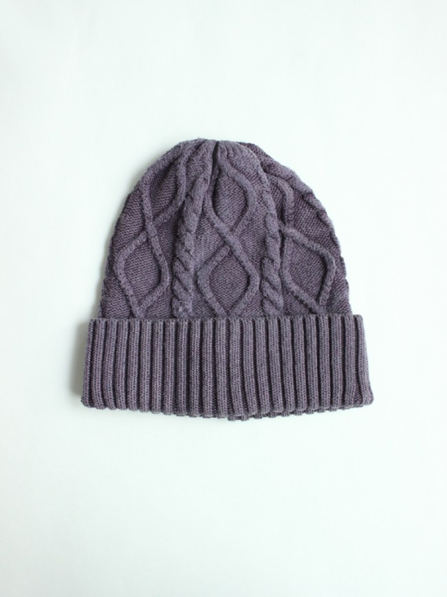 CAL O LINE|SILK KNIT CAP #DARK PURPLE