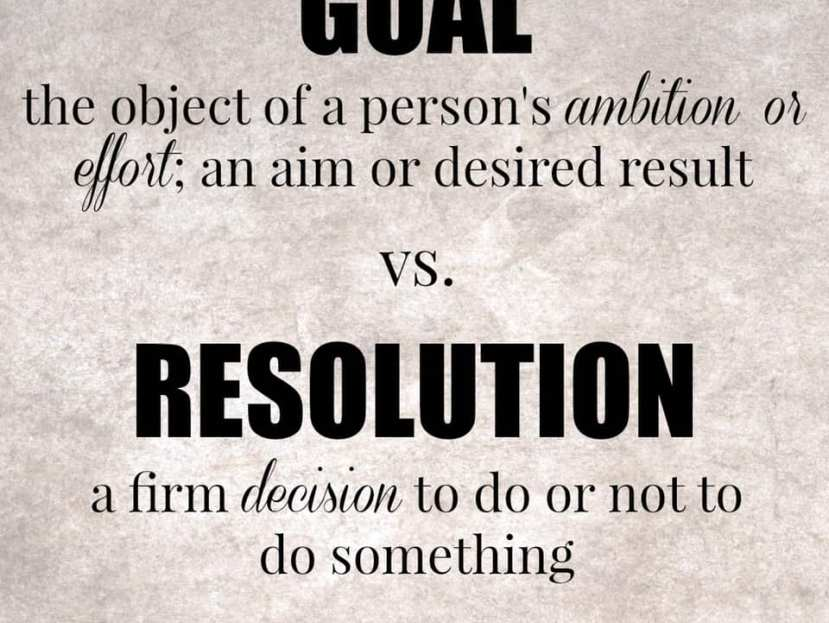 Goals VS Resolution.