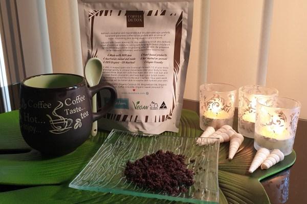 Coffee detox sugar body scrub