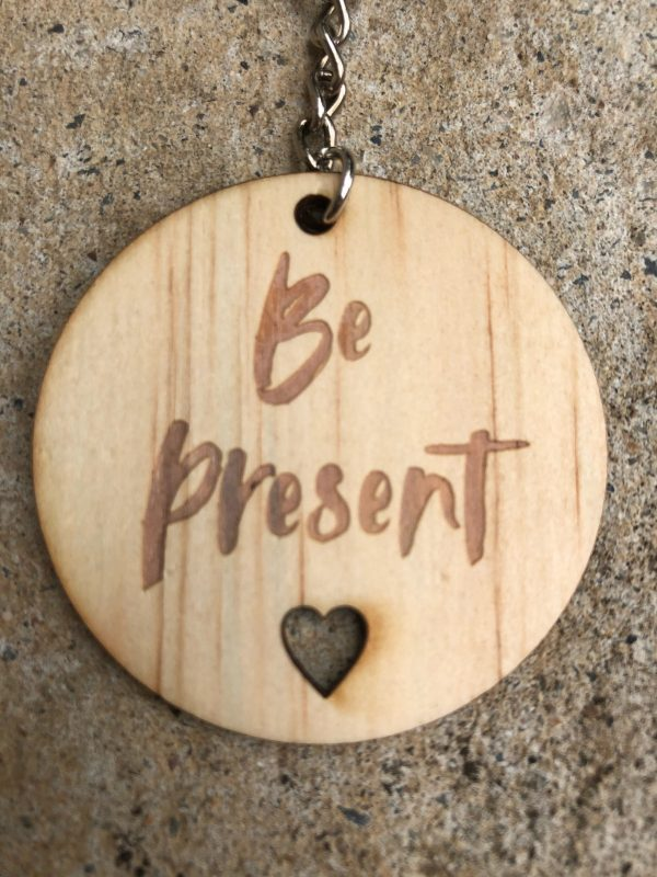 Be present wooden keyring.