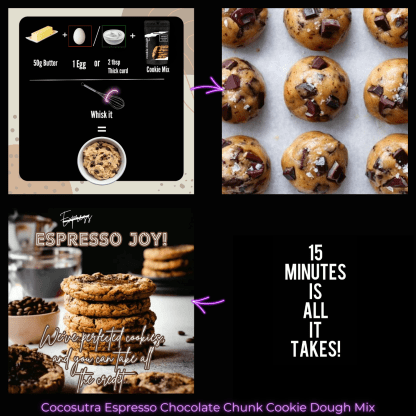 Cocosutra Espresso Chocolate Chunk Cookie Dough Mix - Instructions