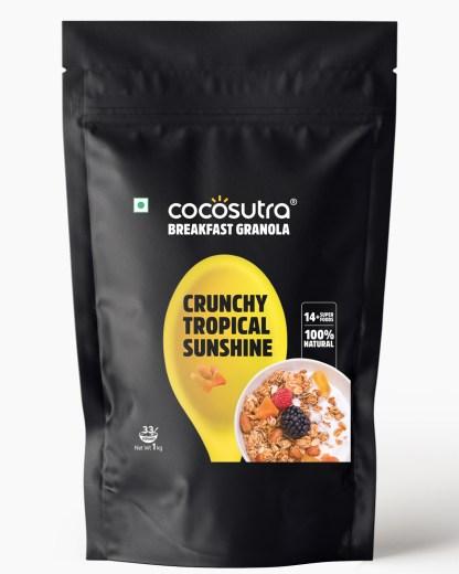 Crunchy Tropical Sunshine Granola 1kg - Front - Healthy Breakfast Cereal & Snack