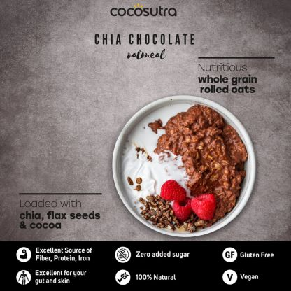 Cocosutra Chia Chocolate Oatmeal Benefits