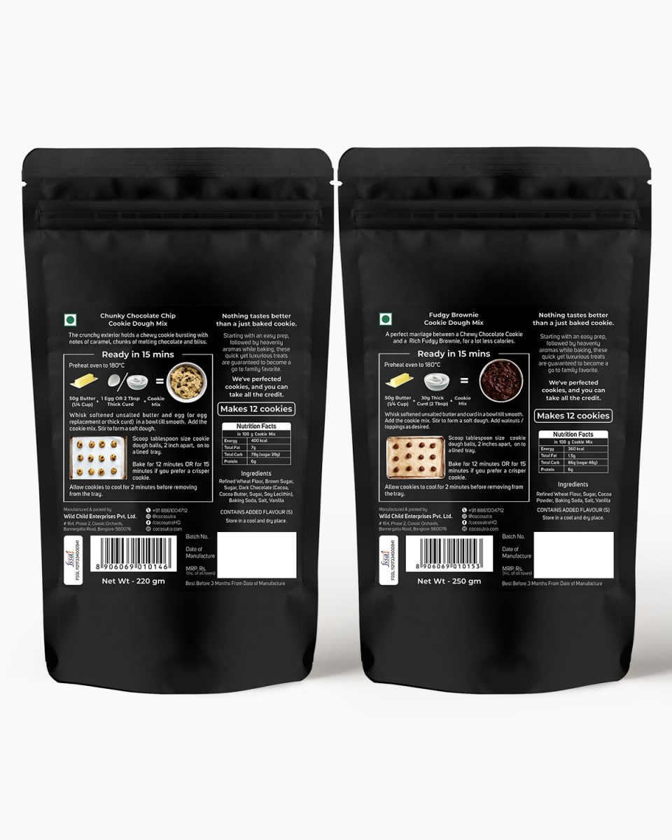 Cocosutra Cookie Dough Mix - Pack of 2 - Gifts & Hampers - Back