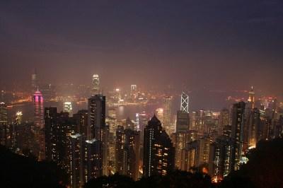 香港、ビクトリアピークからみる夜景