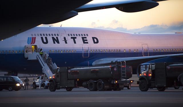 米ユナイテッド航空機