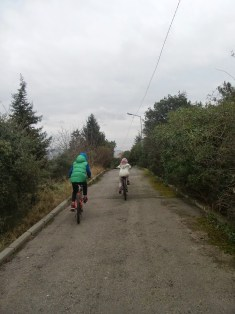 Adayı Bisiklet ile keşif