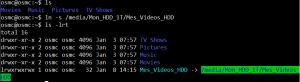 Ajouter dossier VIDEO sur HDD externe comme source OSMC