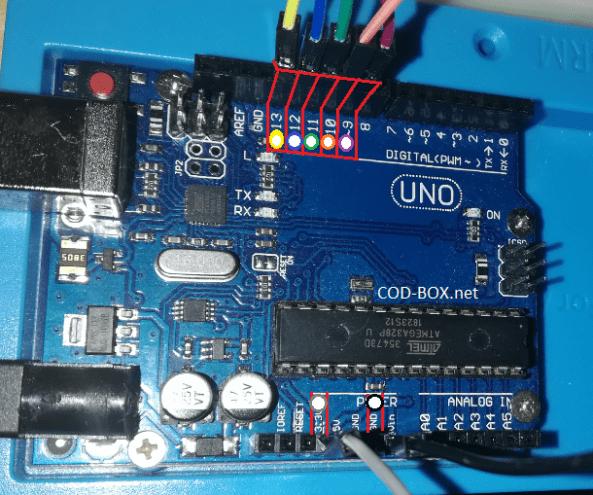 Branchement RFID RC522 Arduino UNO