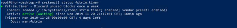 Test TRIM Ubuntu activate