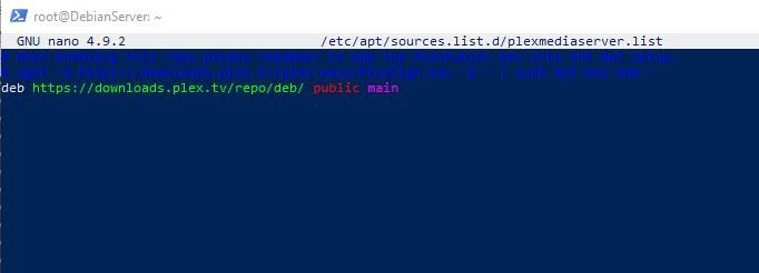 PlexMediaServer ARM source list