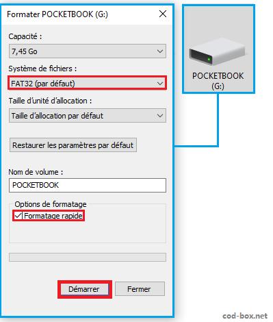 Peu importe, choisissez le nom Pocketbook