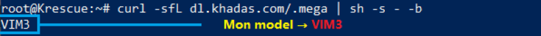 Krescue info model commande