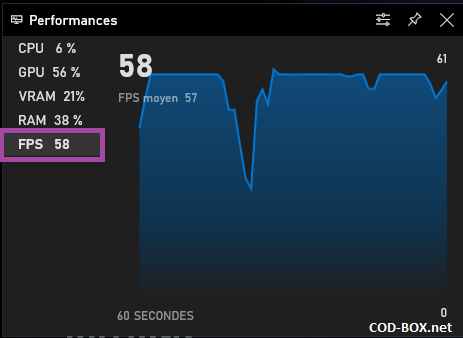 Windows 10 Game bar FPS ON allow