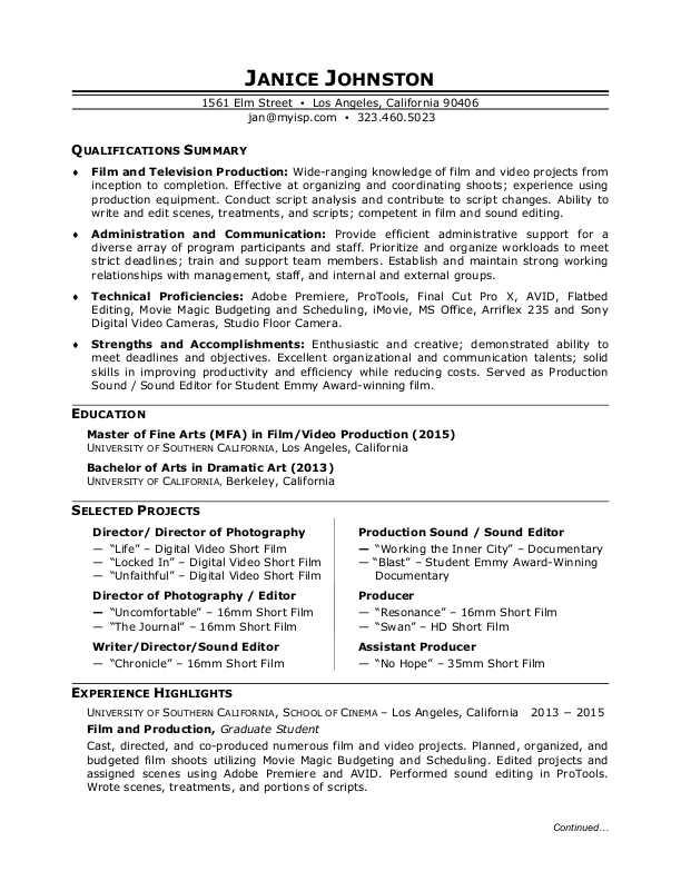Sample Resume Manufacturing Worker