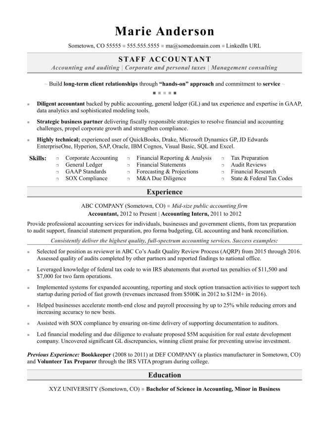 Accounting Resume Sample Monster