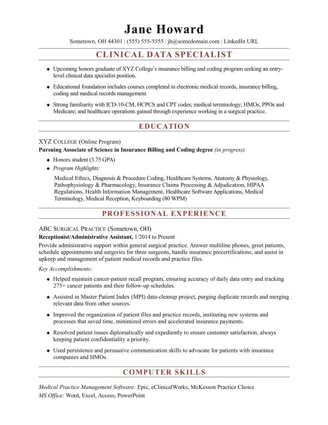 Data entry specialist resume resume sample entry level clinical data specialist resume sample monster yelopaper Gallery