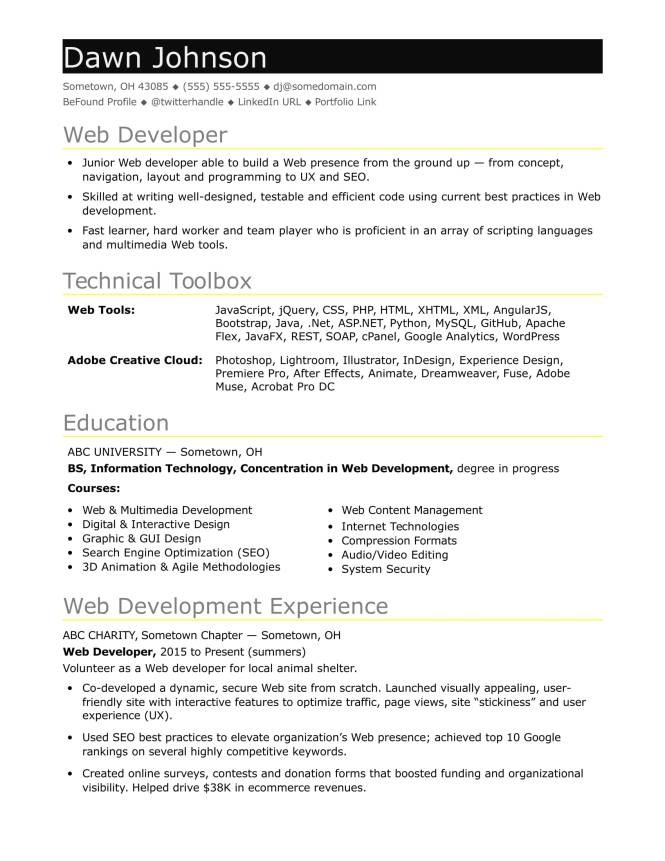 Sample Resume For An Entry Level It