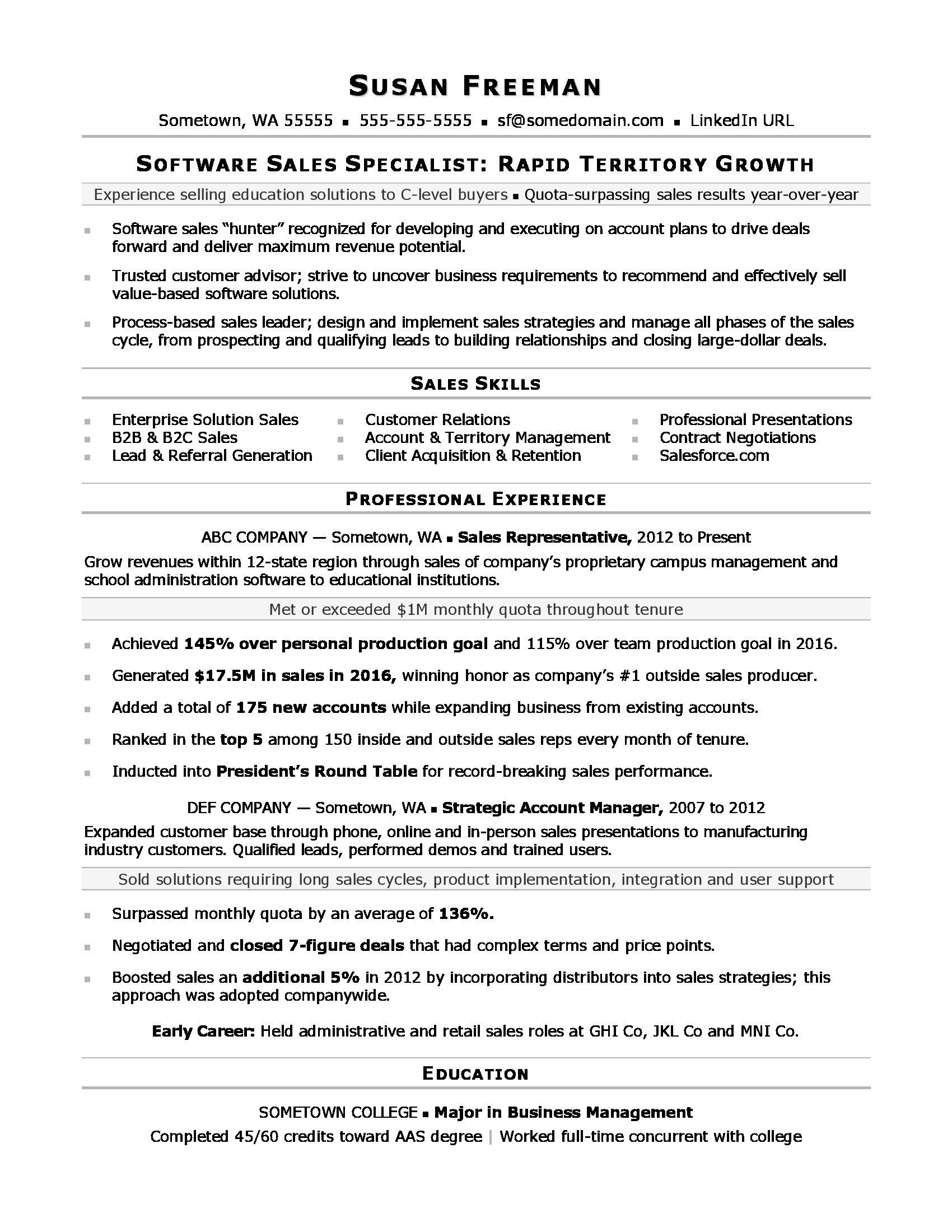 Sales Associate Resume Sample Monster Com