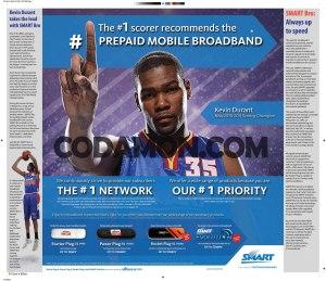 kevin durant endorses smart bro prepaid internet