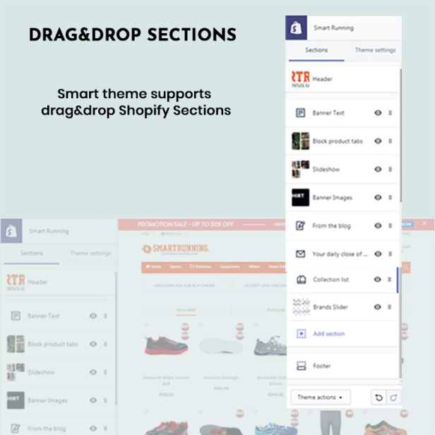 Smart- Shopify themes drag & drop sections with 7 Unique Homepages - Welcome