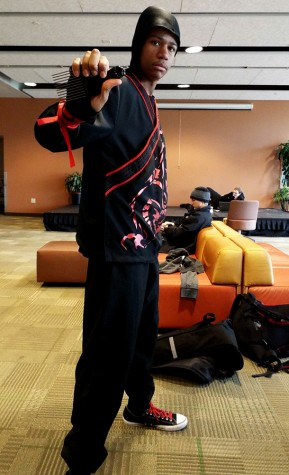 COD Student EJ Lewis as Black Power Ninja