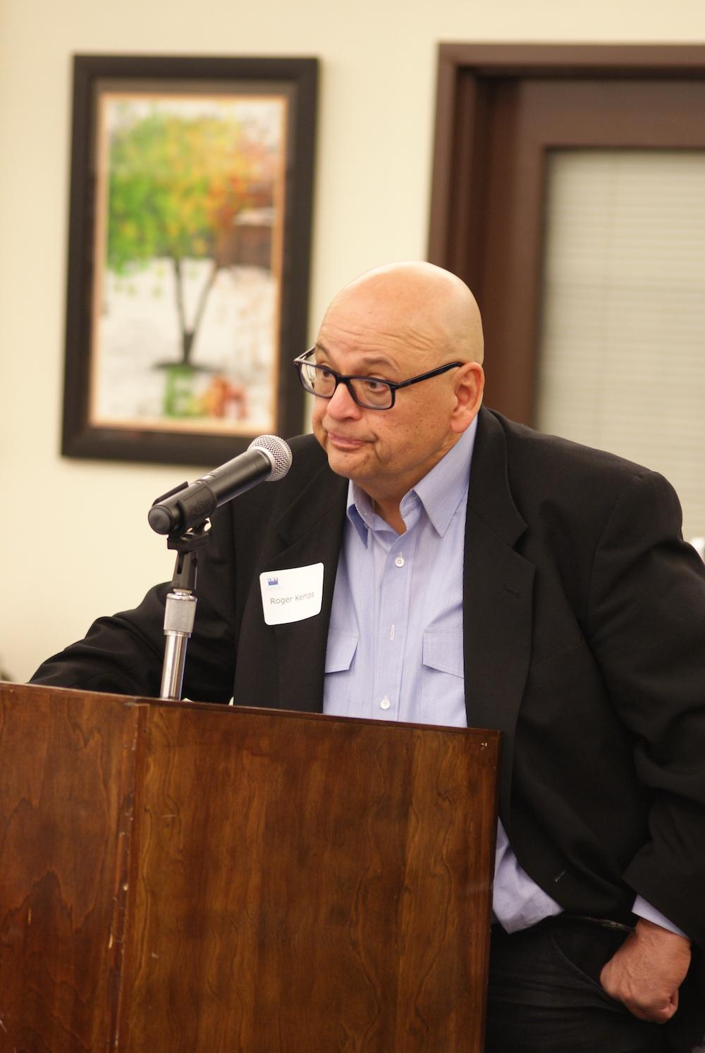 Board candidate Roger Kempa at a March 24 forum.