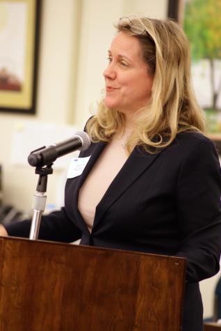 Board candidate Deanne Mazzochi at a March 24 forum.
