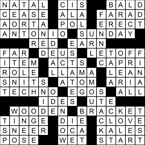 "Solutions for Feb. 28 ""March Madness"" crossword"