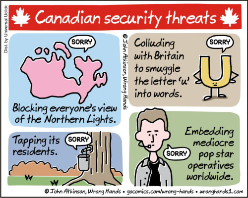 Comic: Canadian security threats