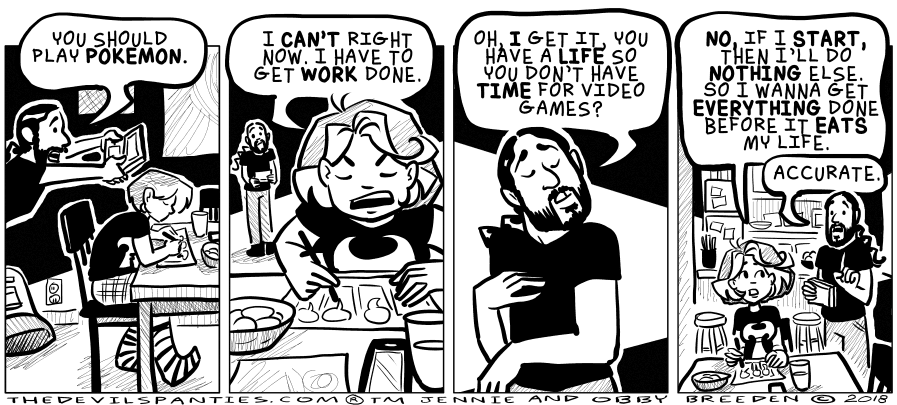 Comic: The lure of gaming