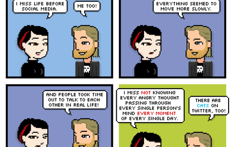 Comic: Life before social media