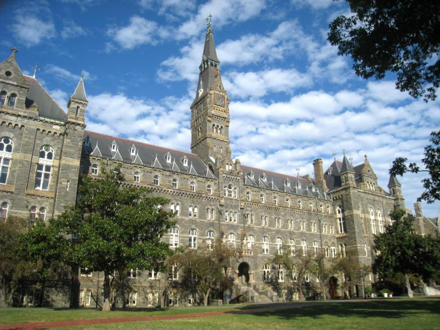 A+federal+investigation+uncovered+how+wealthy+parents+have+bribed+their+children%E2%80%99s+way+into+prestigious+and+highly-selective+schools%2C+like+Georgetown+University+%28pictured%29.+Their+illegal+practices+bring+to+light+the+numerous+legal+maneuverings+the+wealthy+use+to+ensure+back-door+entrance+into+elite+institutions%2C+disadvantaging+deserving%2C+less-affluent+student+applicants+