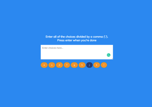Random choice picker in JavaScript with Source code