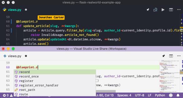 Python-based IntelliSense