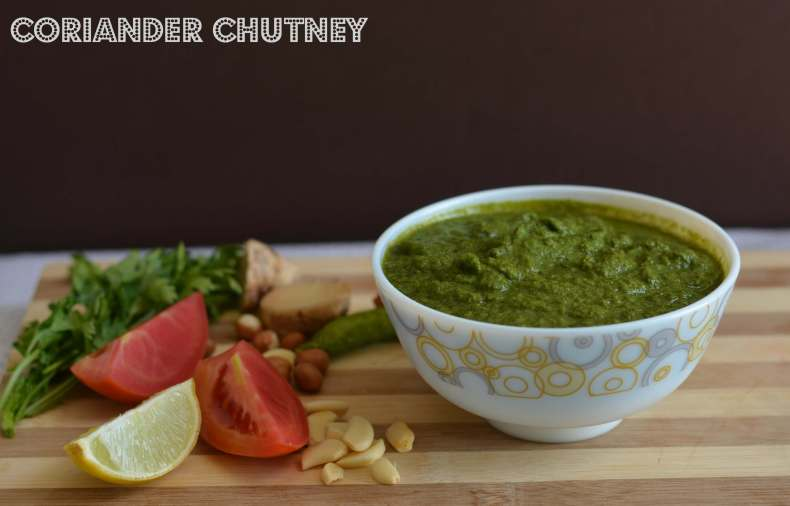 Green coriander chutney or hari chutney is very famous for snacks like tikki, kababs, fritters and great for sandwiches.