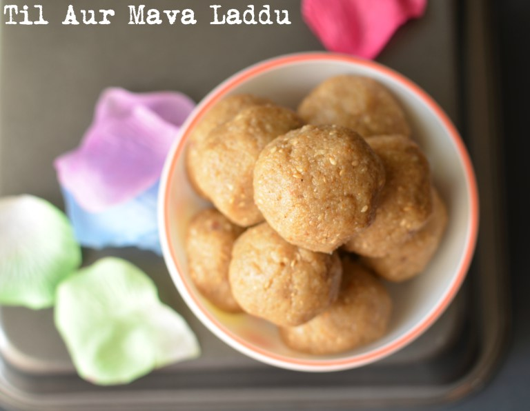 close up click has been for til mawa ladoo from top.