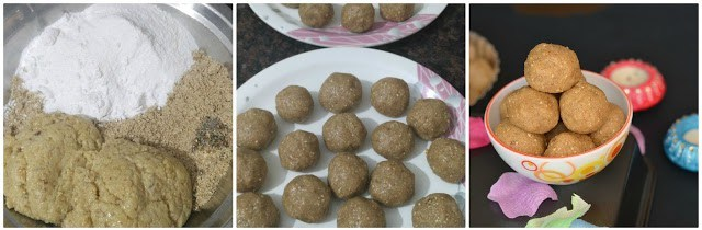finally combined every ingredient together. Bind them in ladoo shape.