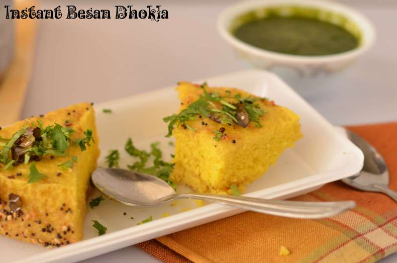 Instant besan dhokla is prepared with gram flour and yogurt batter using Eno fruit salt.