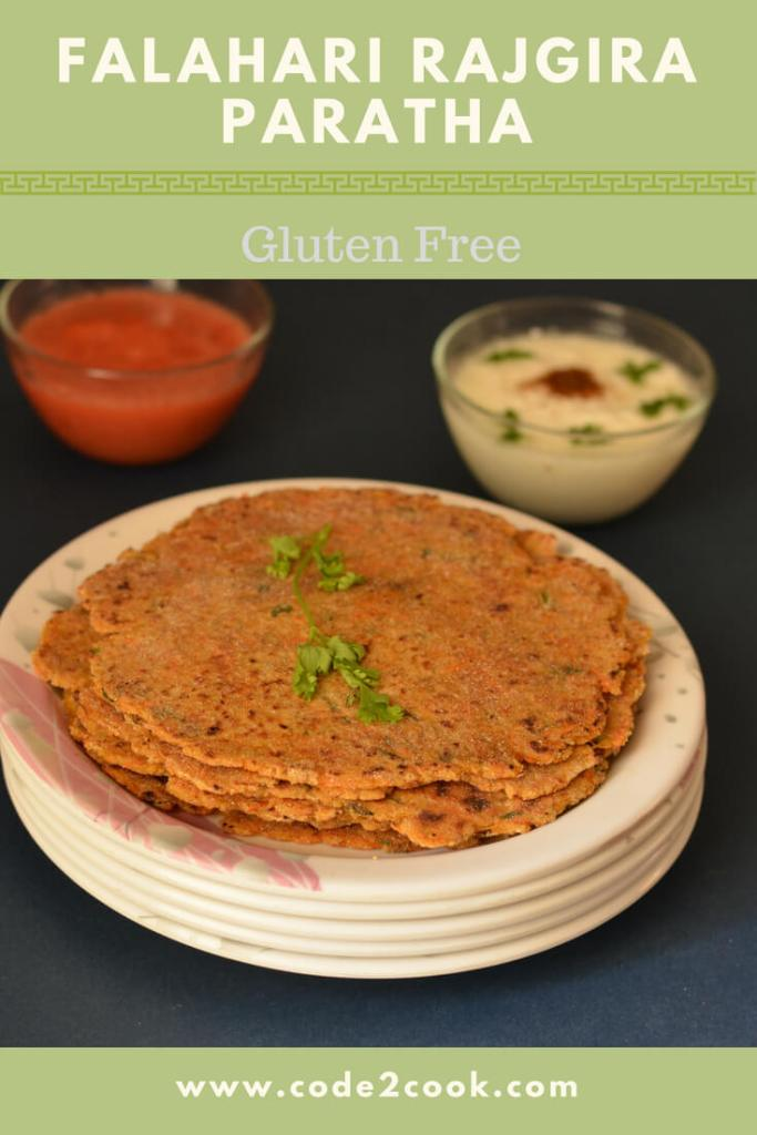 Rajgira paratha is prepared during Navratri fasting days. It is one of the common ingredient used during vrat or fasting days. Rajgira is also known as Amarnath flour..