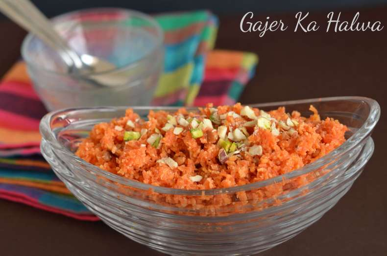 Gajar ka halwa or carrot halwa is a very famous dessert in North India during the winter season also known as Gajrela in some parts of north India. Cooking grated carrot, milk, and sugar on medium heat, a bit of cardamom powder and chopped dry fruits make this halwa so delicious and lip-smacking dessert.