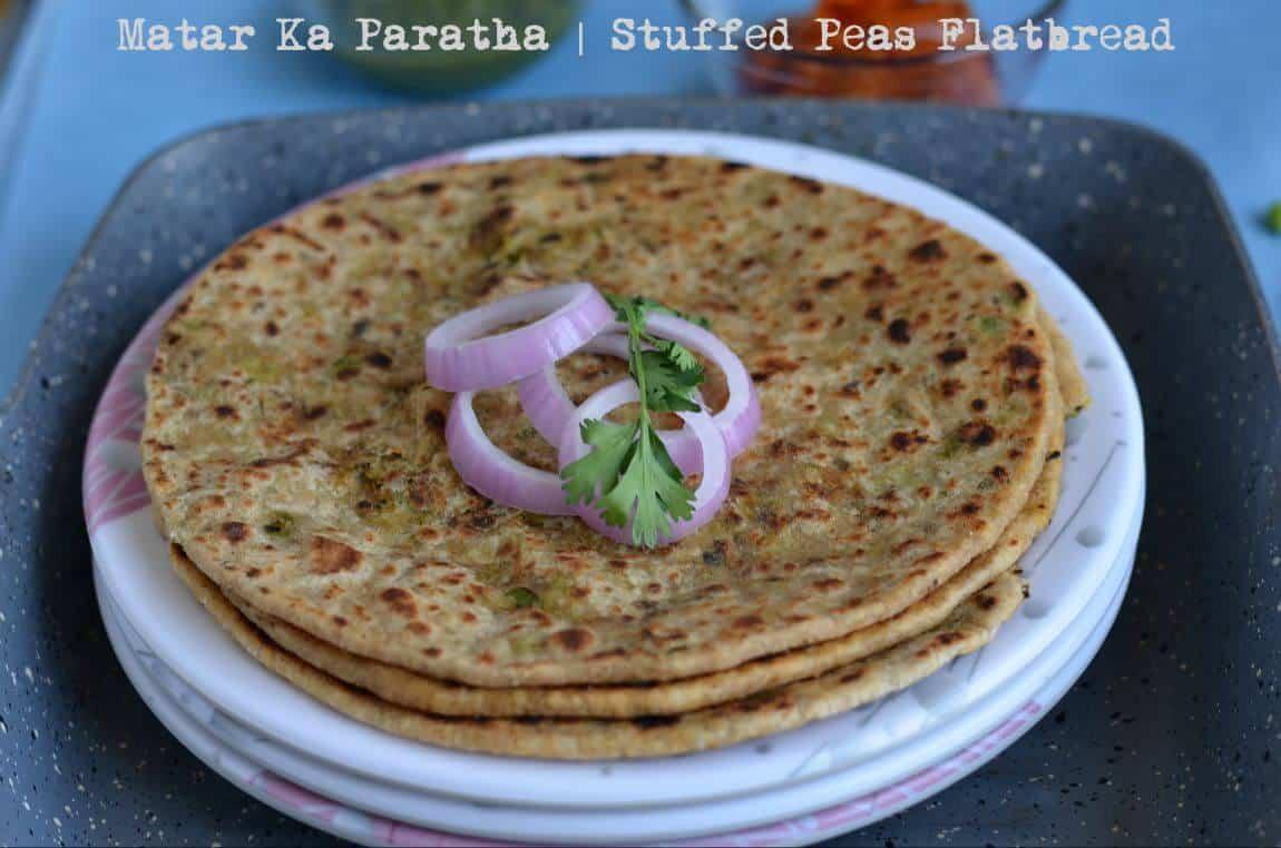 Peas Paratha Recipe | Matar Ka Paratha | Green Peas Stuffed Flatbread