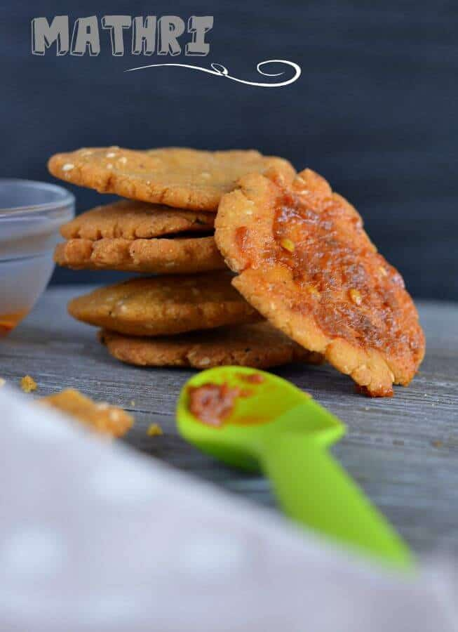 Makki ki mathri is a deep fried Indian snack made with cornmeal.Perfect tea time snack or festival savory snack.
