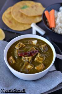 Instant pot palak paneer is a delicious, creamy, flavourful North Indian Cuisine recipe made with paneer (cottage cheese) and spinach in Instant Pot. It is seasoned with ginger, garlic, onion, tomatoes and very easy to make one pot recipe made in instant pot. This gluten-free, low-calorie instant pot palak paneer is just another variationto authentic palak paneer recipe.
