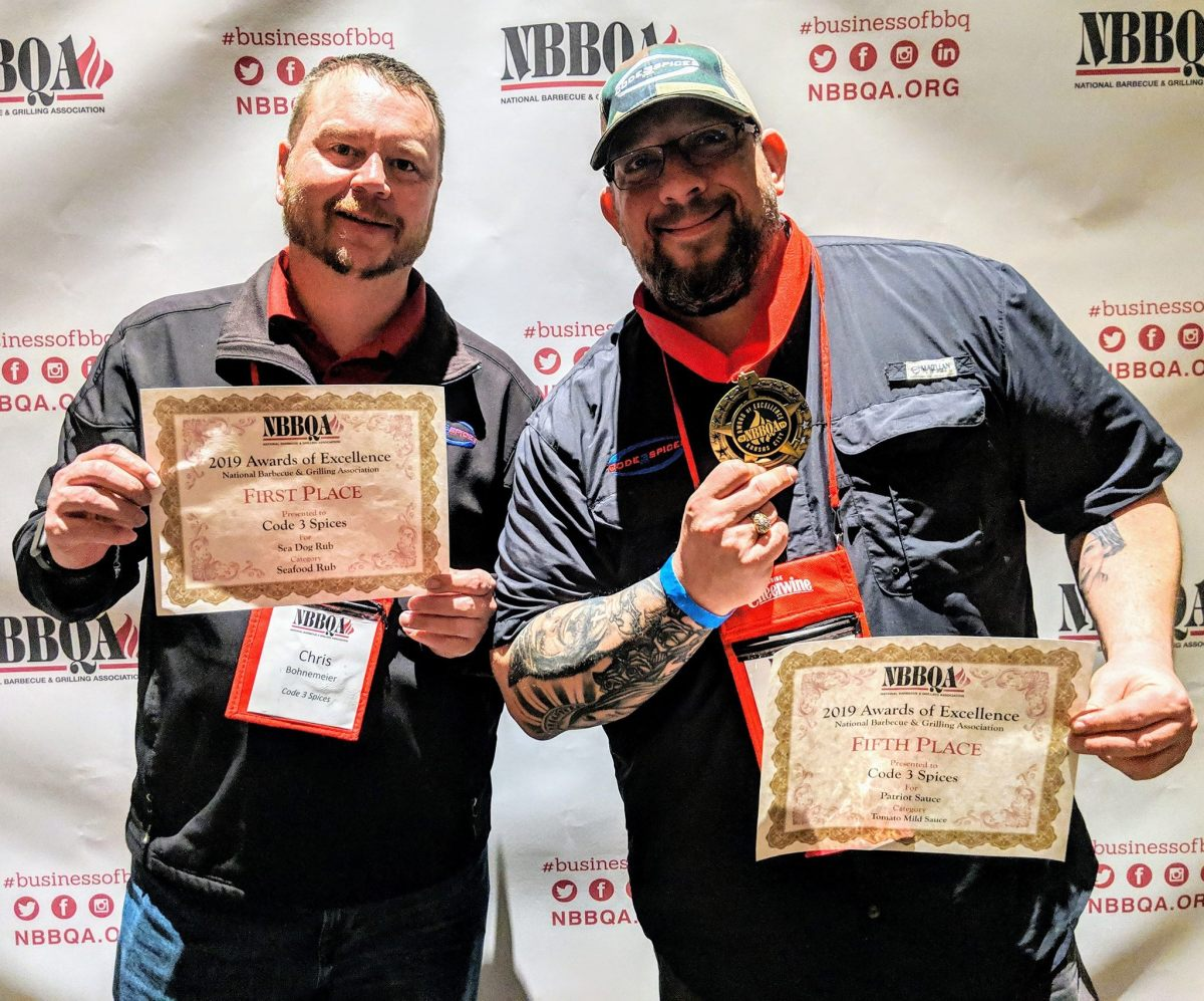 Code 3 Spices Award Winners for Seafood Rub and BBQ Sauce