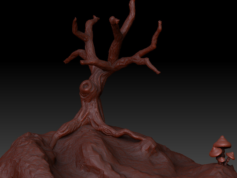 Tree: Z-Brush Sculpt