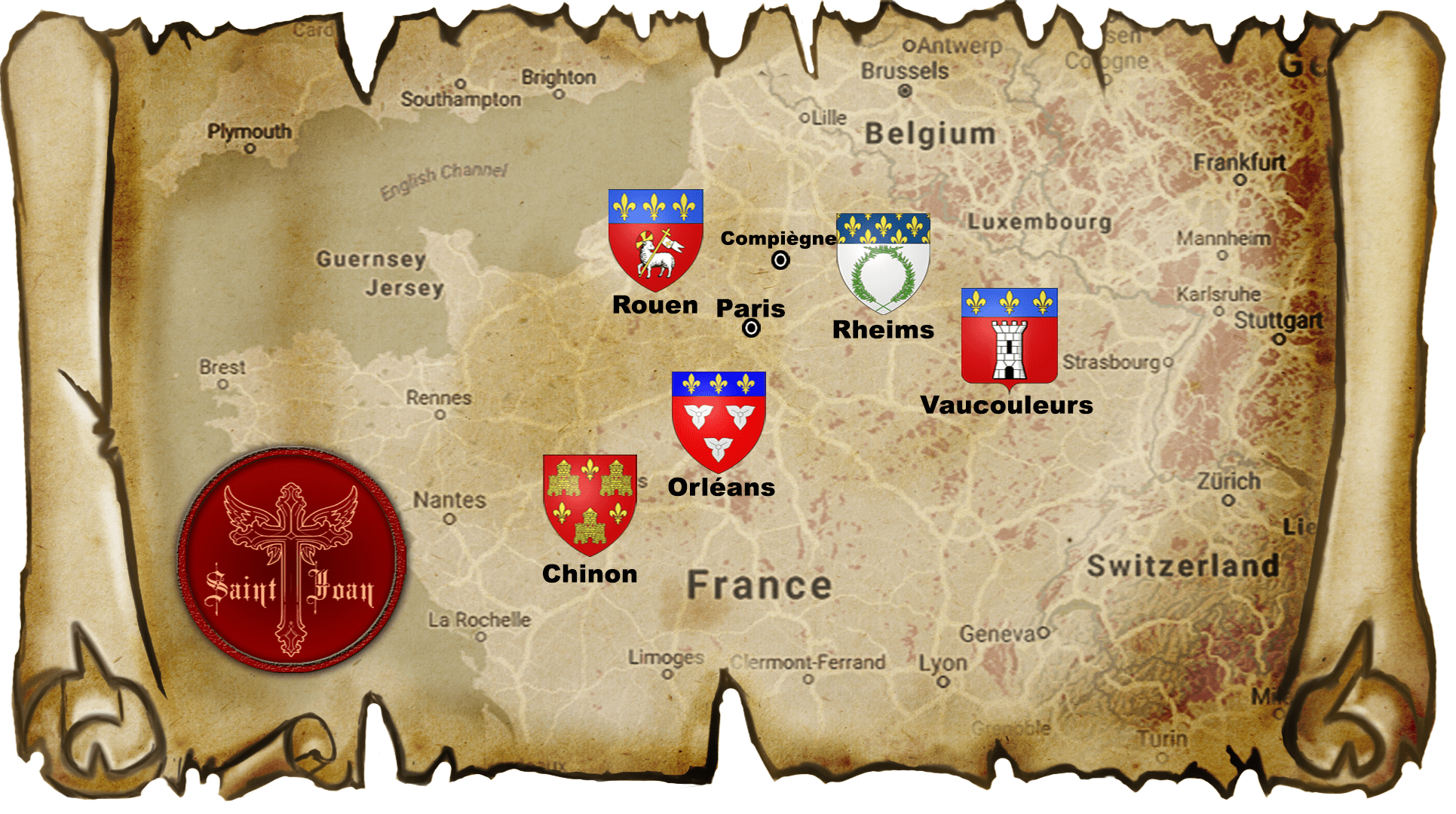 Saint Joan Map