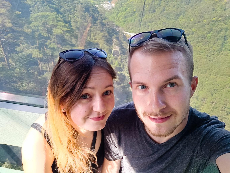 Selfie w Yungu Cablecar