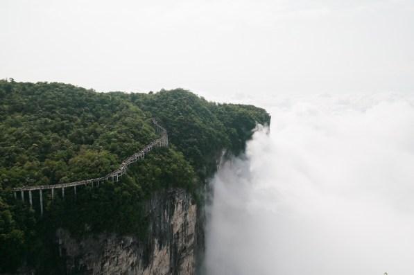 Ścieżka na szczycie góry Tianmen